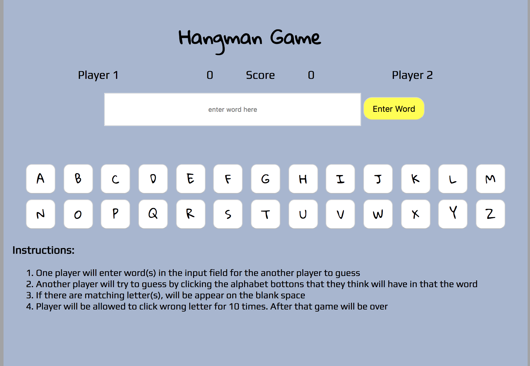 hang man game image